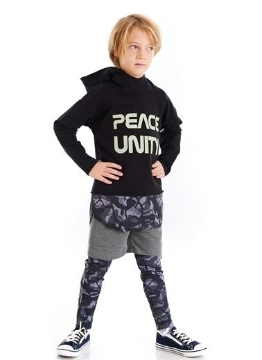 Colorinas Unity Slogan Baskılı Sweatshirt Siyah Renkli